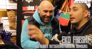 Eko Fresh im Interview bei seiner Autogrammstunde mit Backspin TV (Video-Interview)