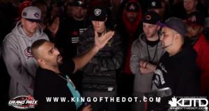 """King Of The Dot (KOTD) – Rap Battle – """"HFK vs Jus Daze"""" (Video)"""