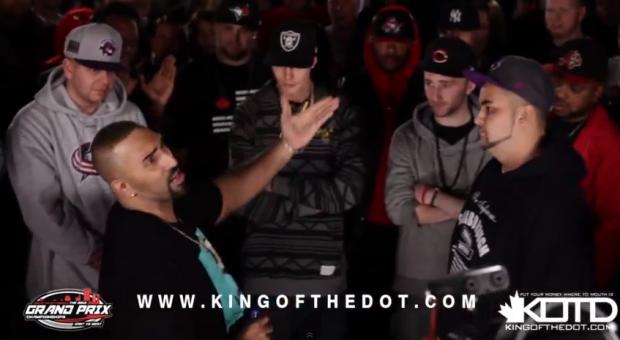 King Of The Dot (KOTD) - Rap Battle - 'HFK vs Jus Daze' (Video)