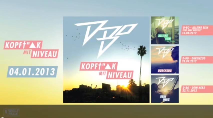 """D-Bo – """"Kopffick mit Niveau""""- Album-Snippet Teil 1 + 2 (Audio)"""