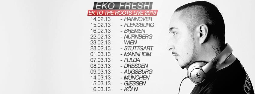 """Eko Fresh geht auf """"Ek To The Roots""""- Tour 2013 (News)"""