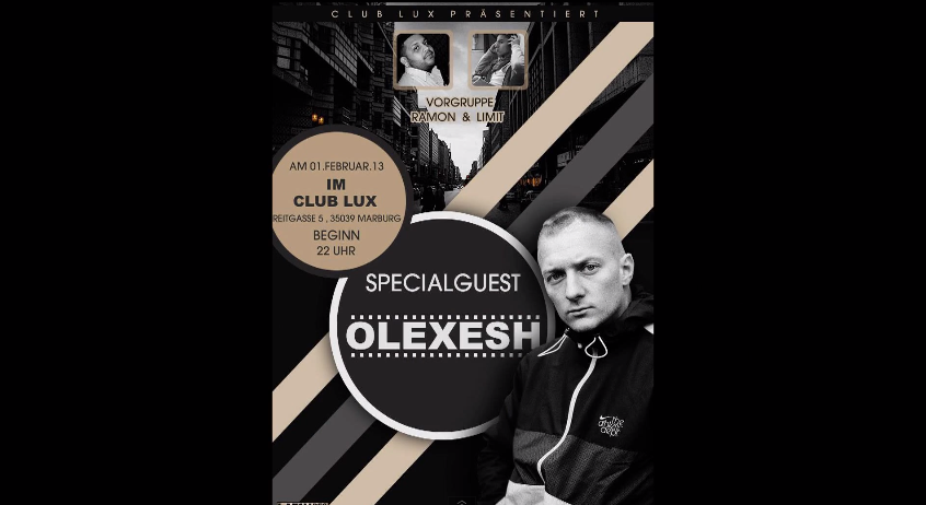 Olexesh – Am 01.02.2013 Live in Marburg im Club Lux | Shout Out (News + Video)