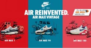 Für die old school heads unter euch: Air Max 1, Air Max 90 und Air 180 im original Colorway