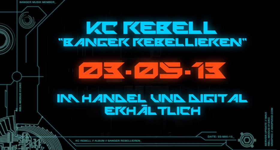 "KC Rebell – ""Banger Rebellieren""- Album | Snippet – Hörprobe"
